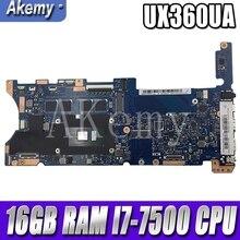Akemy تكوين اللوحة الأم للكمبيوتر المحمول ASUS Q324UAK Q324UA Q324U UX360UA اللوحة الرئيسية 60NB0C00-MB8000 16GB RAM I7-7500 وحدة المعالجة المركزية