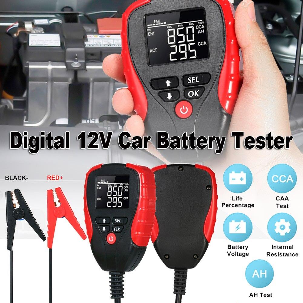 Цифровой тестер автомобильной батареи 12 В, автомобильный электронный измеритель нагрузки батареи, анализатор, диагностический инструмент,...