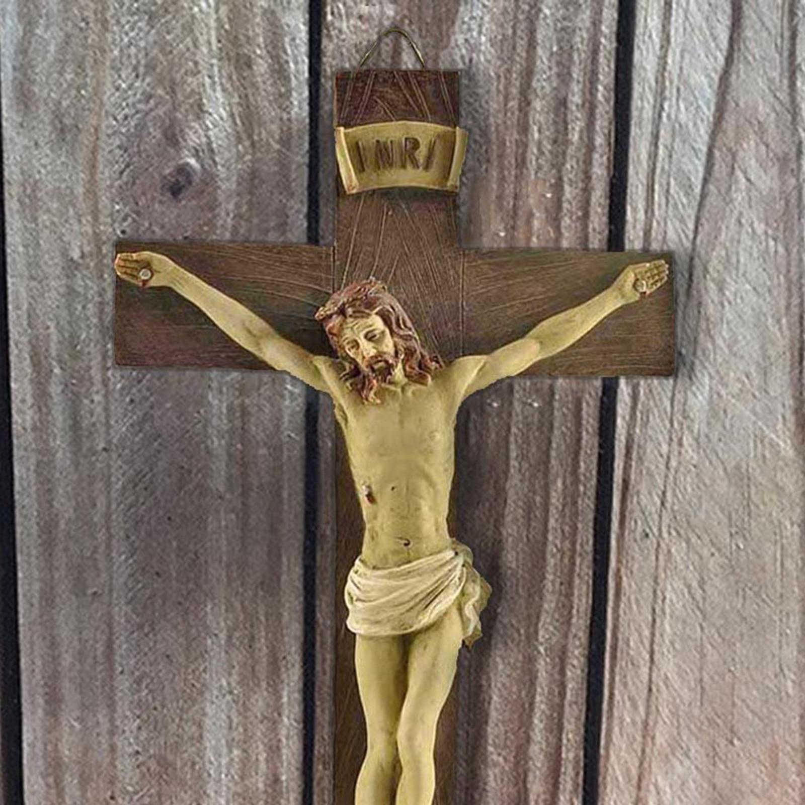 Модель с распятием религиозные полимерные, статуя Иисуса, украшение для домашней часовни, христианский амулет, коллекционный подарок
