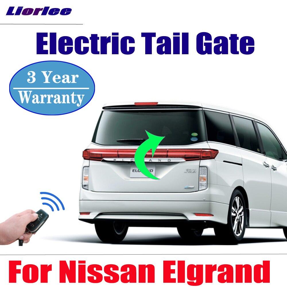 Accesorios de coche para puerta trasera eléctrica para Nissan Elgrand E51 2017-2019, portón trasero eléctrico, puerta de maletero con funcionamiento eléctrico