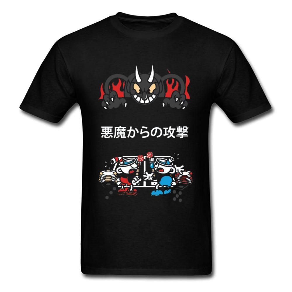 Nuevo hombre Camiseta ataquecamisetademonio ataque un titán Cuphead camisetas Cool Hunter X...