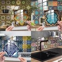 crystal tile stickers mandala mosaic wall sticker cabinet self adhesive waterproof renovation decor sticker 10pcs 101520cm