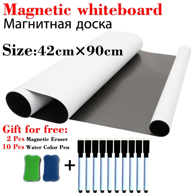 42*90cm Magnetic WhiteBoard Fridge Magnets School Home Office Message Board Dry Erase White Board Calendar Board