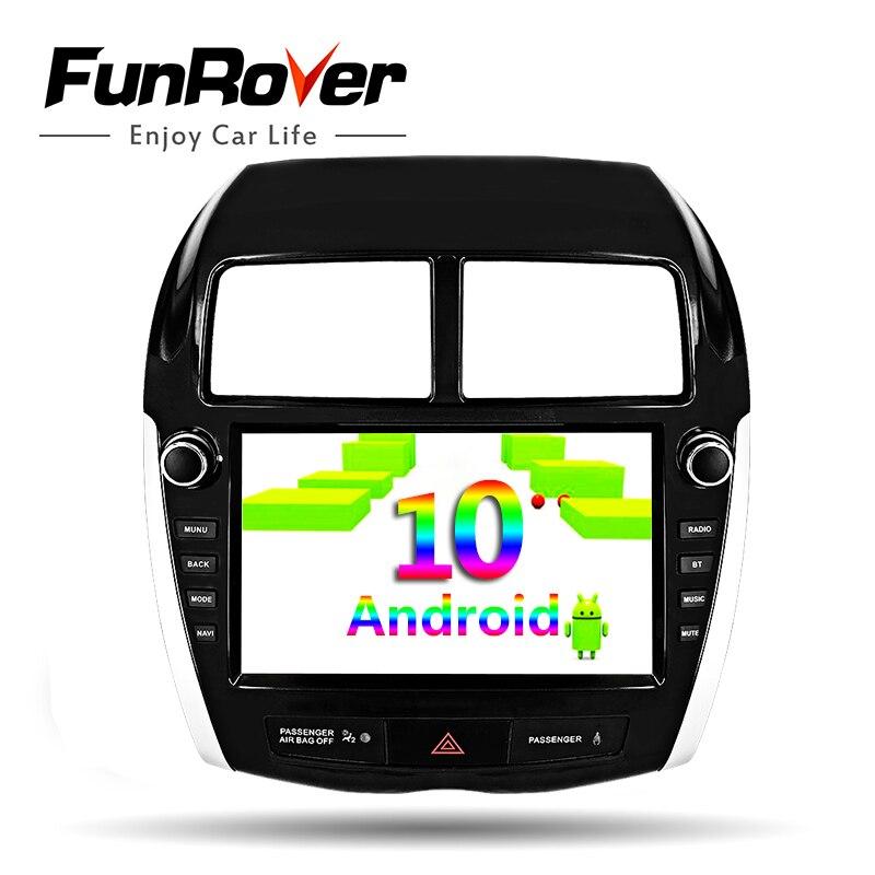 Funrover Android 10,0 para Mitsubishi ASX C4 Peugeot 4008 coche Multimedia Radio reproductor de Audio GPS 2 din dvd 8 núcleos 64G DSP rds bt