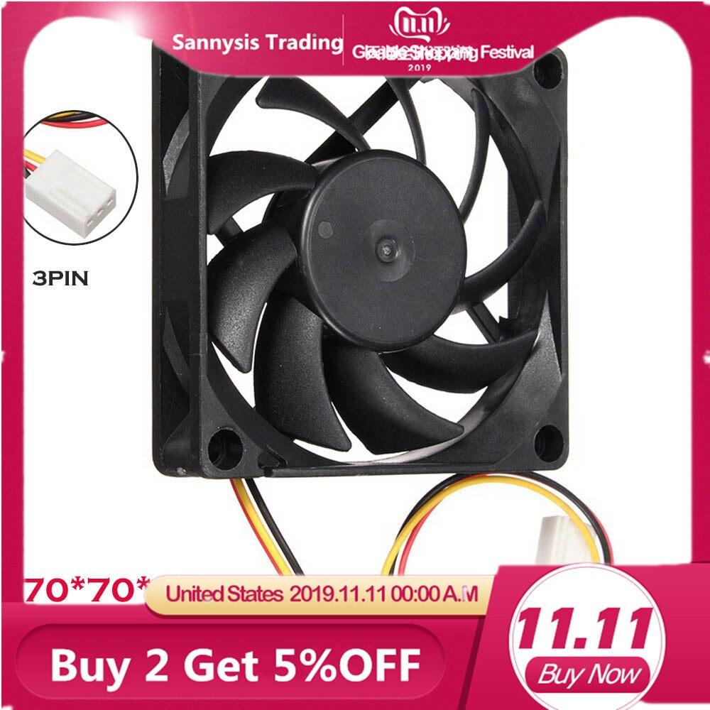 2020 nuevo ventilador silencioso de pc cpu 7 cm/70x70x15mm/70mm ventilador 12V ordenador/PC/CPU ventilador de enfriamiento silencioso para radiador Mod para tarjeta de video