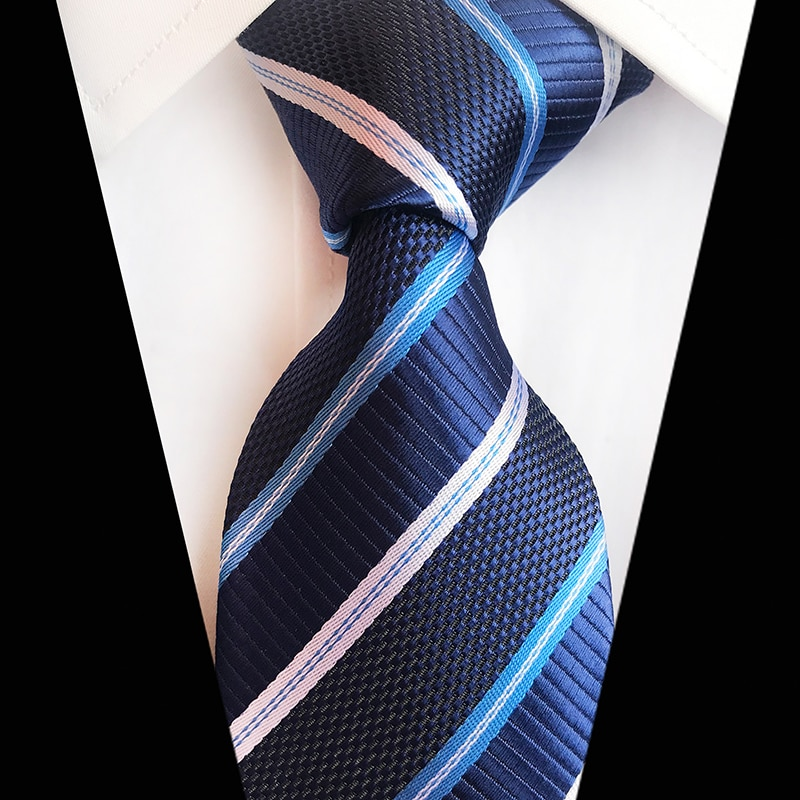 Classic 8cm Ties for Man 100% Silk Tie Luxury Striped Plaid Checks Business Neck Tie for Men Suit Cravat Wedding Party Neckties недорого