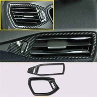 2pcslot abs carbon fiber grain front both sides air conditioning outlet decoration cover for 2019 ford focus 4 mk4