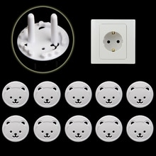 10pcs EU UK Power Socket Electrical Outlet Baby Kids Child Safety Guard Protection Anti Electric Sho