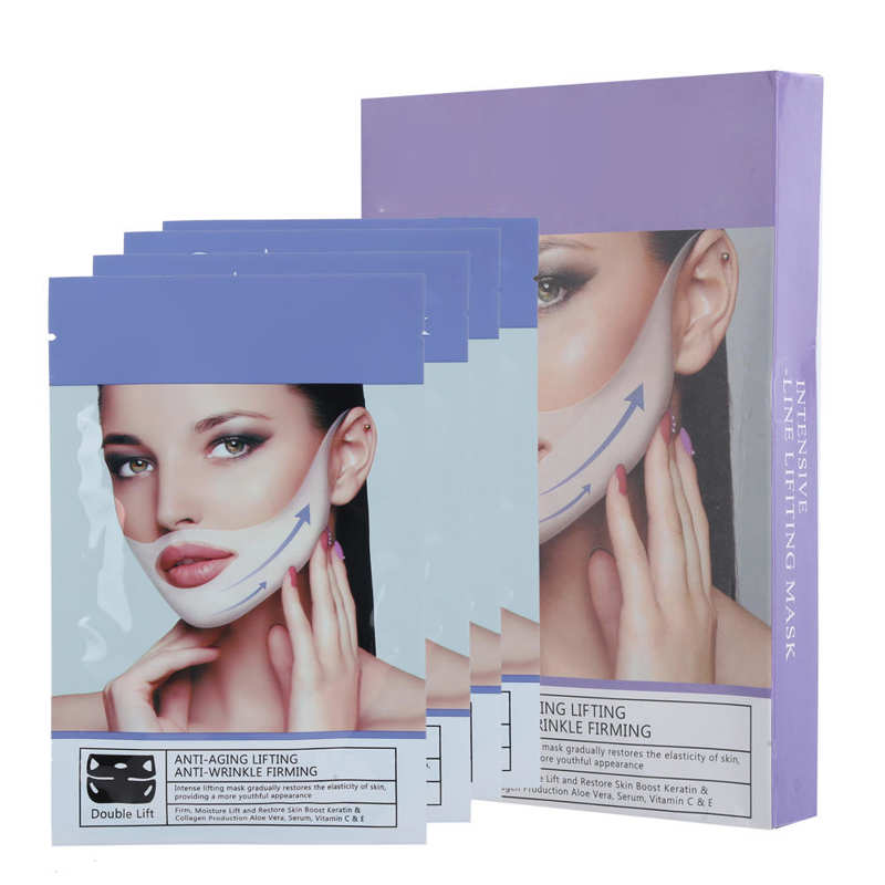 4pcs 35g Face Lift Slimming Mask V Line Chin Up Moisturizing Firming Face Mask Rich Plant Extracts Vitamins And Amino Acids Mask