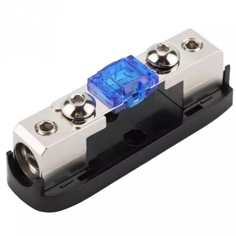 30-150A Stereo Audio Single Way AGU Fuse Holder Power Distribution Block Fusebox Car Accessories Zin