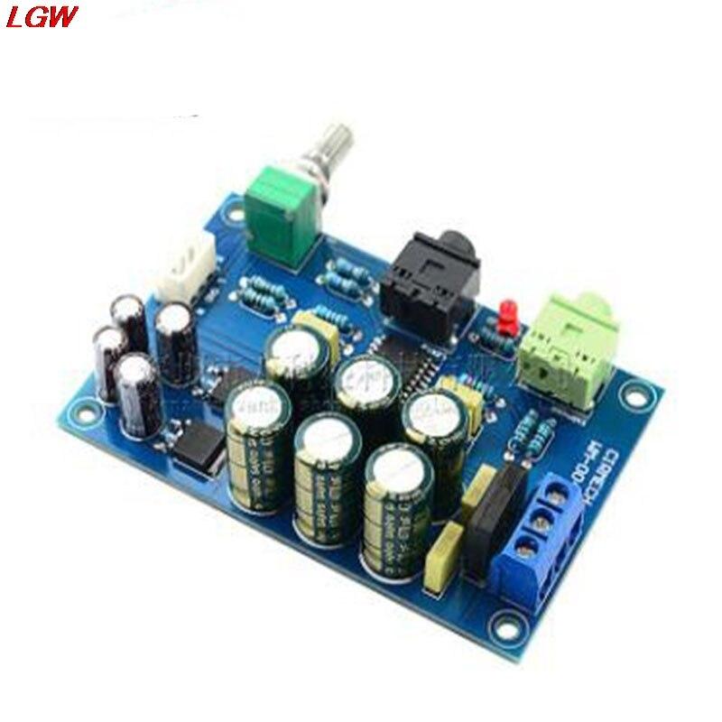 Placa De Amplificador de Auscultadores de ALTA FIDELIDADE Audiophile TPA6120A2 TPA6120 Headphone Amplifier Board Kit de Zero Ruído de Fundo Bordo Terminou