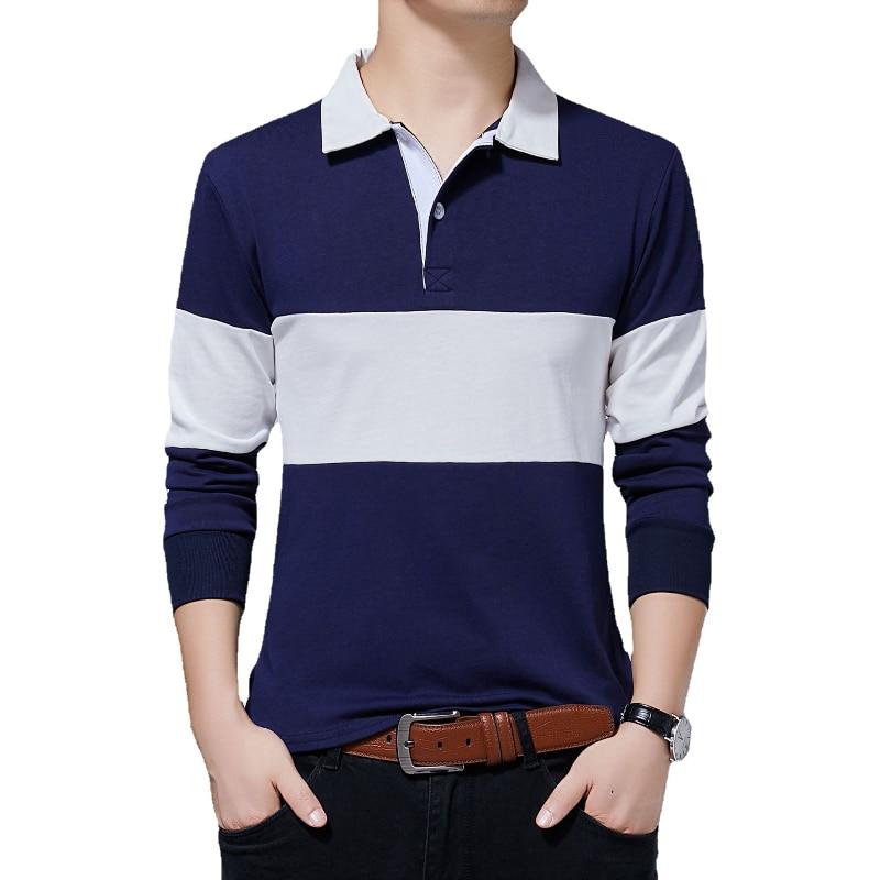 Фото - Футболка мужская с длинным рукавом, удобная Однотонная рубашка-поло, рубашка с длинным рукавом, весна-осень футболка с длинным рукавом opium футболка с длинным рукавом