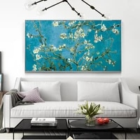 van gogh almond blossom flowers canvas art paintings on the wall posters and prints impressionist canvas prints for living room