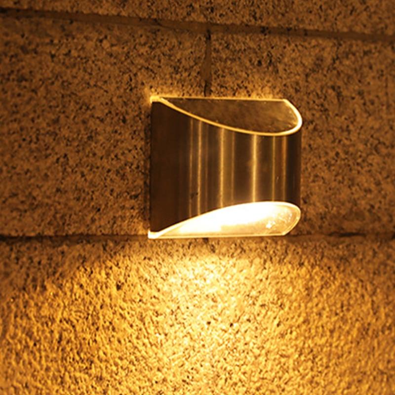 4LED Solar Step Lamp Outdoor Waterproof Solar Powered Fence Lights Garden Decoration Balcony Landscape Lighting Stair Lamp