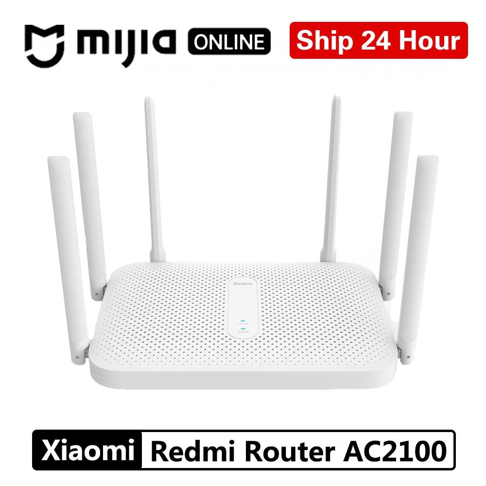 Xiaomi Redmi Router AC2100 Gigabit 2,4G 5,0 GHz fortalece la doble banda 2033Mbps repetidor Wifi inalámbrico 6 antenas de alta ganancia más amplias