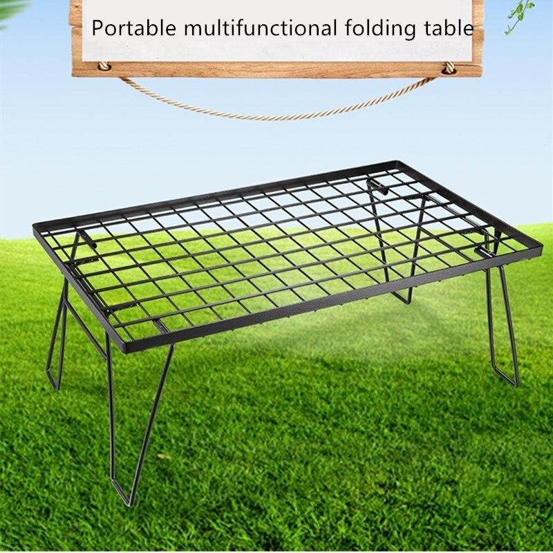 Mesa de pícnic al aire libre, mesa portátil multifuncional para barbacoa de camping, mesa plegable multiusos