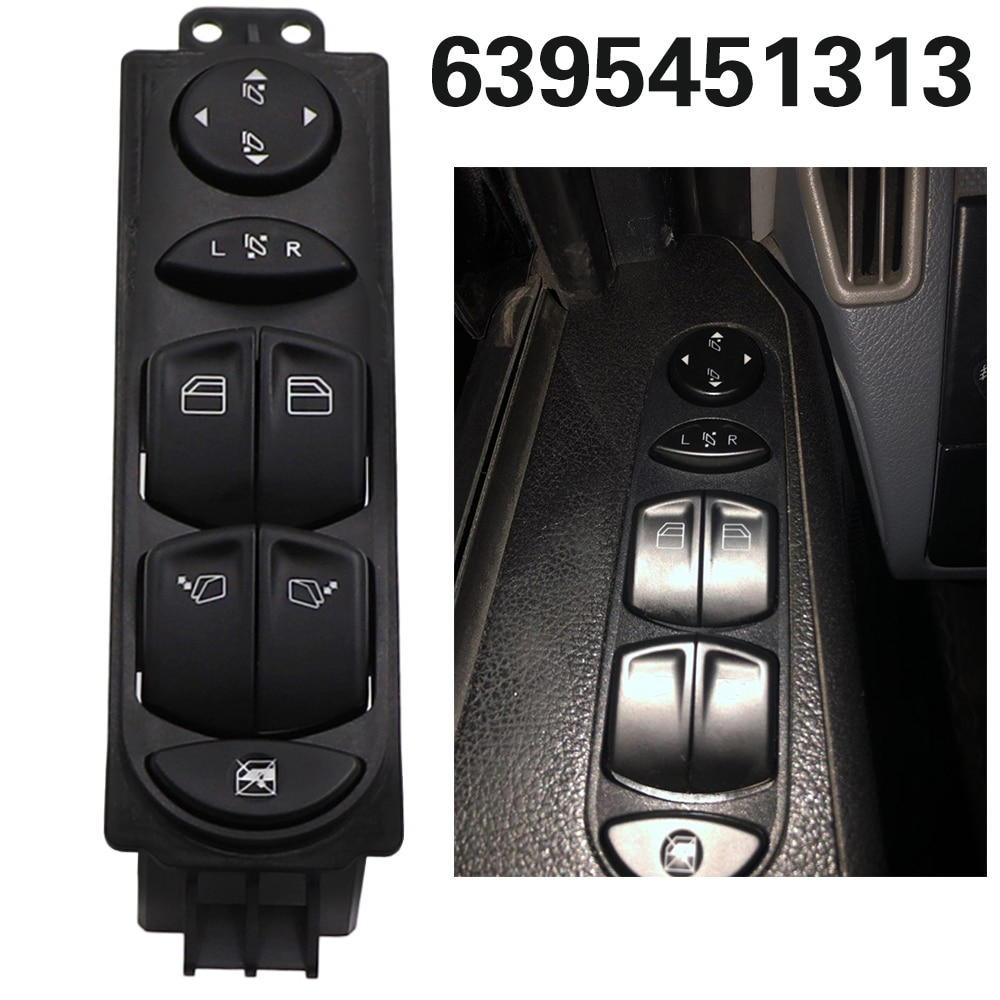 Interruptor de ventanilla principal A6395451313 6395451313 para mercedes-benz Viano Wieland W639 2006-2012 Vito 2003-2015, Control