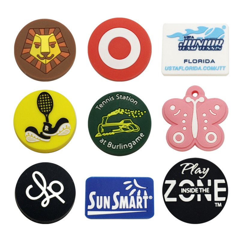 50pcs/lot Cute Animal Tennis Racket Dampener Funny Silicone RubberOEM Hot Selling Tennis Racket ShockAbsorber Silicone Animal PT