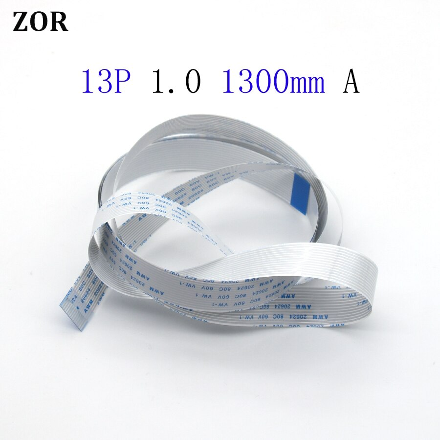 5/10/20 pces 13pin ffc fpc cabo flexível liso 1.0mm passo 13 pinos um-tipo para a frente comprimento 1300mm fita cabo flexível