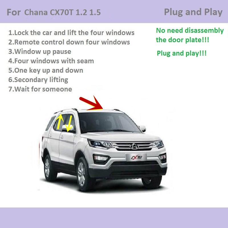 For Chana CX70T 1.6 1.5T Car Automatic Window Closer Closing&Open Control /One Key Window Lifter&Sunroof closer Accessories