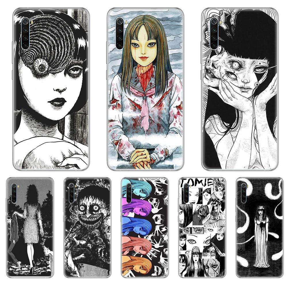 Japan Junji Itou Kawakami Tomie cell cover Transparent Phone Case For xiaomi Redmi 3S 4A 5A 6A 5 Plus 4X 7 8 8a CC9 K20 Pro K30
