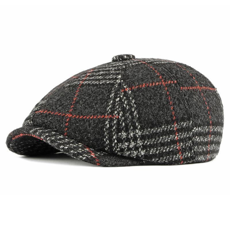 Acrylic Autumn and Winter Fashion Newsboy Caps Flat Peaked Cap Men and Women Painter Beret Hats 101