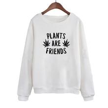Hauts femmes automne mode végétarisme femmes sweat pull printemps hauts plantes sont amis disant Tumblr à capuche