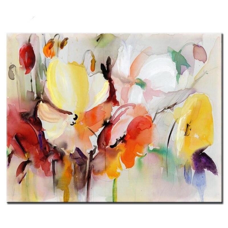 Moderna Flor de acuarela bordado de diamantes diy punto cuadrado redondo diamante amapola flor en lienzo pintura 5d decoración del hogar regalo