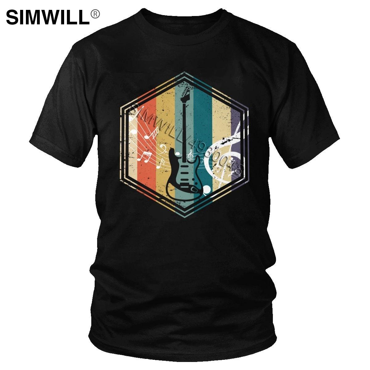 Camiseta Retro con bajo musical para hombre, camiseta de manga corta para amantes de guitarras y guitarras, Camiseta ajustada de algodón 100% para hombre