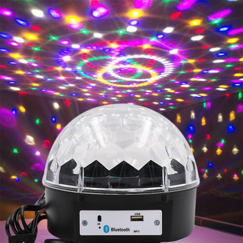 Светодиод Музыка Свет Bluetooth 4.0 MP3 Светодиод Сцена Свет Голос Управление KTV Лазер Цветной Кристалл Магия Шар Свет Дискотека Вечеринка