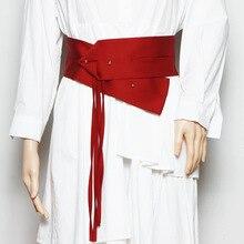 Vintage Chinese Style For Women Belt Ethnic Dress Decorated Cummerbunds Satin Body-Sculpting Girdle