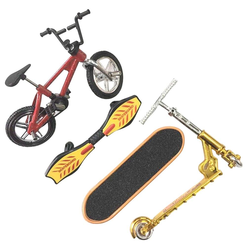 Liga festa favores mini dedo skate conjunto brinquedo educativo diversão entretenimento removível decoração da casa bicicleta scooter leve