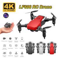LF606 Wi-Fi FPV складной Дрон с дистанционным управлением с 4K HD Камера следите за удержания высоты 3D сальто Безголовый вертолет мини модель самоле...