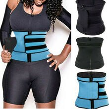 Men Women Tummy Waist Trainer Cincher Sweat Belt Trainer Hot Body Shaper Slim Shapewear Sweat Belt Waist Cincher Trainer S-3XL