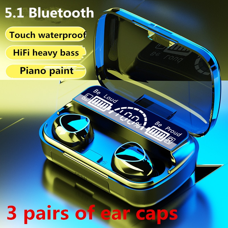New Wireless Headphones Bluetooth Tws 5.1 Noise Canceling Gamer In-Ear Headset With Microphone Hifi