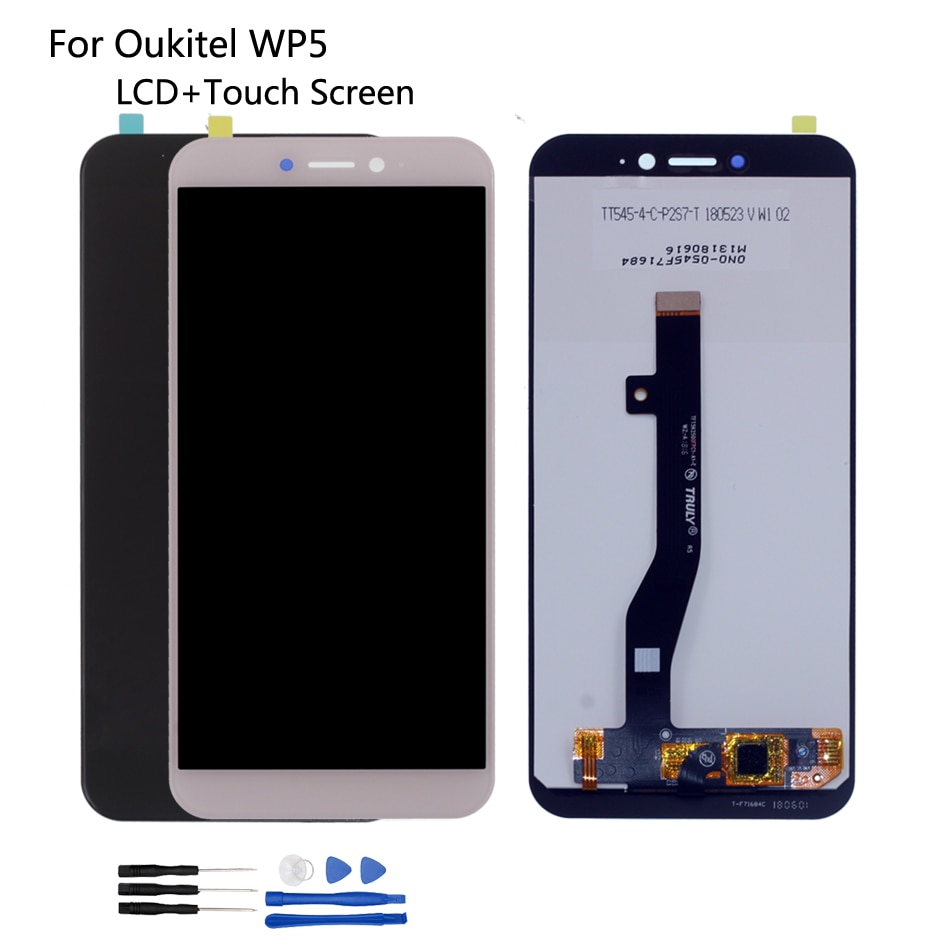 الأصلي ل Oukitel WP5 شاشة الكريستال السائل مجموعة المحولات الرقمية لشاشة تعمل بلمس إصلاح أجزاء ل OUKITEL WP5 شاشة عرض LCD شاشة الكريستال السائل