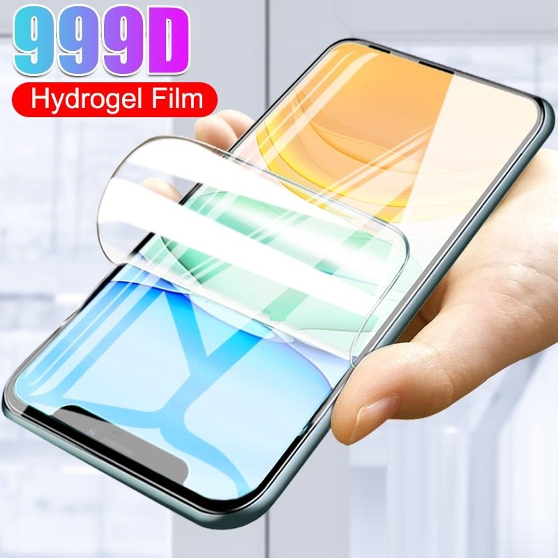 Protective Glass For IPhone 11 12 Mini Pro Max Screen Protector Hydrogel Film For IPhone 6 S 7 8 Plus X XR XS Max Glass
