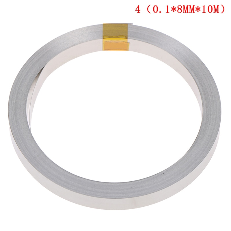 2m 0 2 10mm ni plate nickel strip tape for li 26650 battery spot welding the connecting piece of battery the battery pole ear 10M 8mmx0.1mm Ni Plate Nickel Strip Tape For Li 18650 26650 Battery Spot Welding