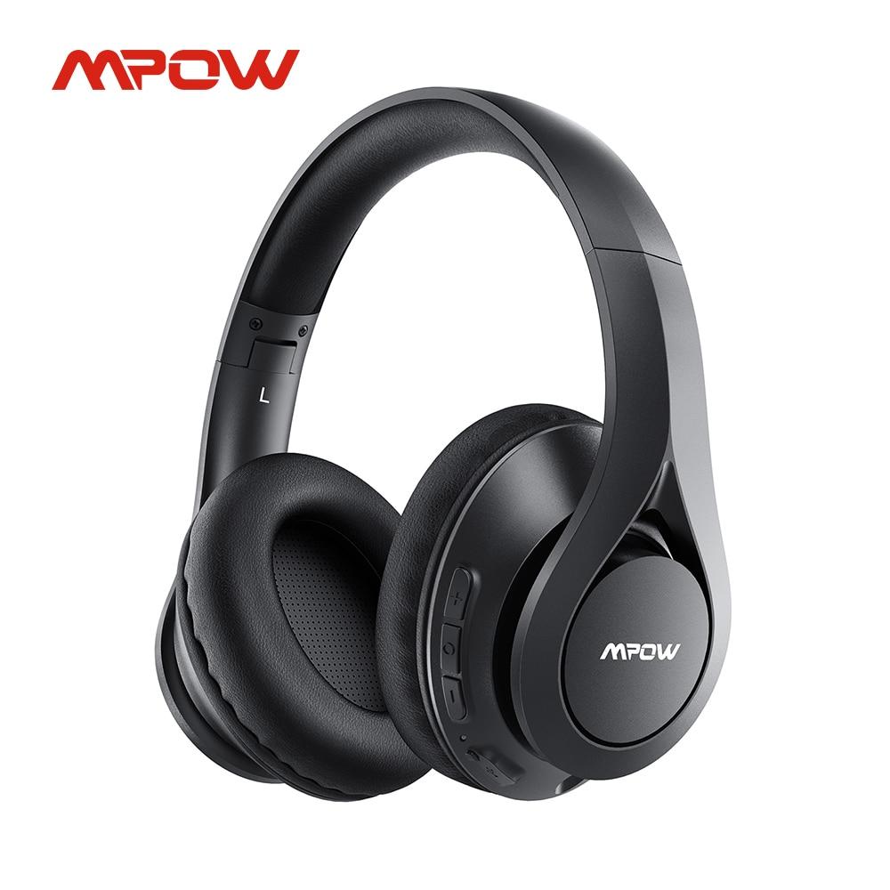 Mpow 059 Pro/Lite 60h Playtime بلوتوث 5.0 سماعات لاسلكية مرحبا فاي صوت ستيريو CVC 6.0 الحد من الضوضاء للكمبيوتر هاتف محمول