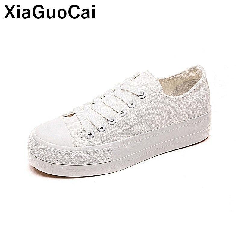 Женская повседневная обувь, весенне-осенняя Женская парусиновая обувь, обувь на плоской платформе со шнуровкой, модная женская обувь, новое...