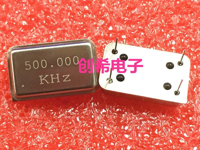 5 uds 500KHZ 500K 500.000KHZ cristal activo en línea OSC DIP-4 reloj rectangular vibración tamaño completo