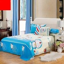 Kitty Cat  Flamingo Bedding Set Lovely Rabbit Flat Sheet Pillowcase Duvet Cover Double Queen King Single Flat Sheet