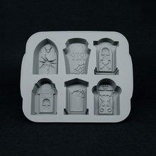 3D silikonowy nagrobek lodu forma kostki wina taca na kostki lodu ekspres tacka do lodu dla Kicthen Halloween narzędzia do pieczenia