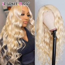 Body Wave Lace Front Wig 613 Honey Blonde Lace Frontal Wig Pre Plucked 150% 13x1 Remy Brazilian Human Hair Wigs For Black Women