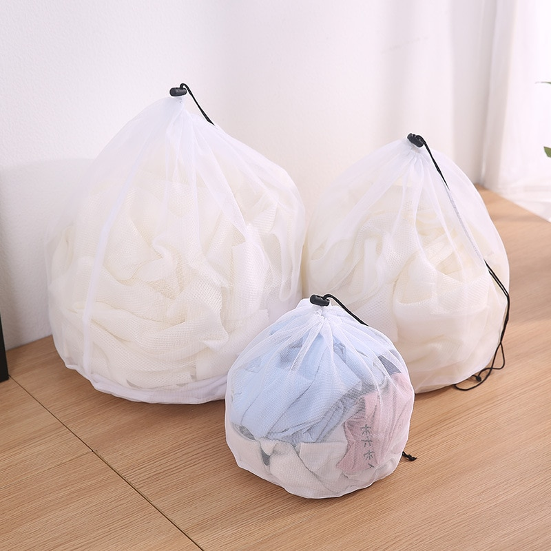 1pc-drawstring-laundry-bag-three-size-thickened-drawstring-foldable-filter-underwear-bra-socks-washing-clothes-net-bag-clothcare