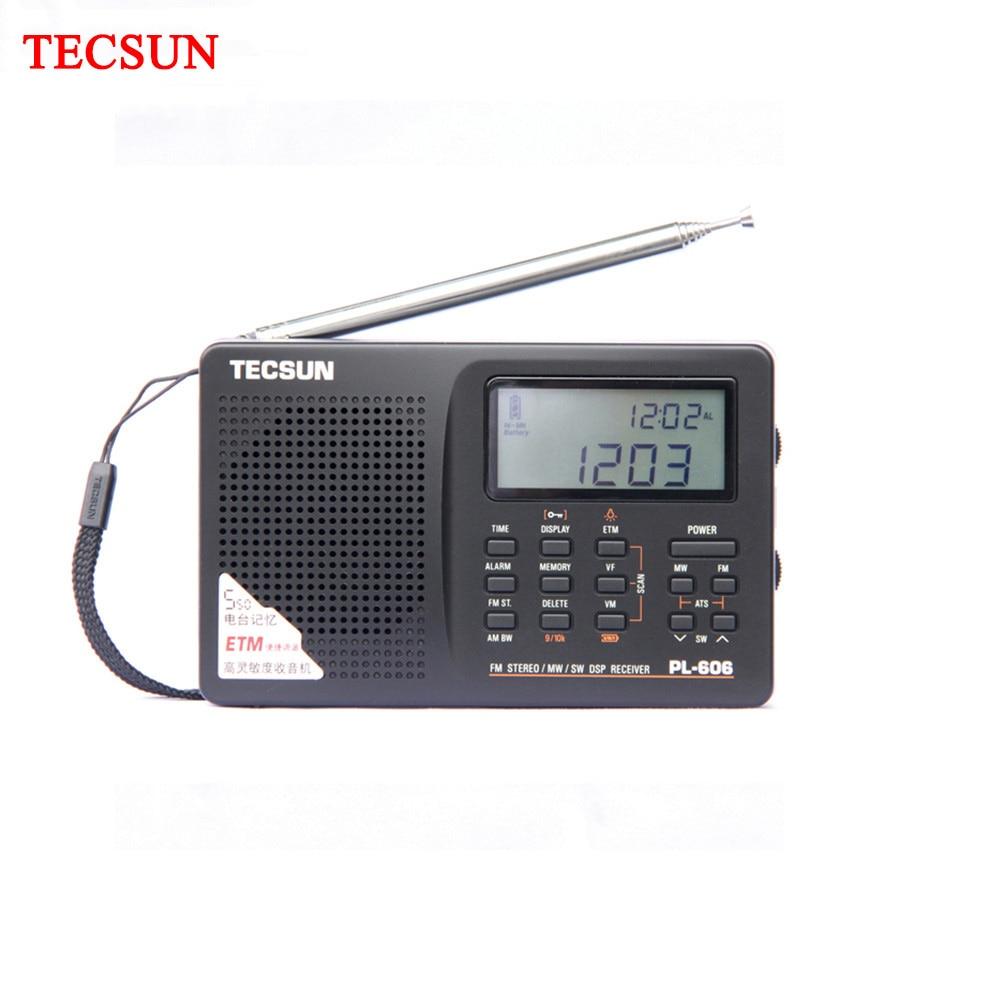 Tecsun PL-606 PLL Digital portátil ancianos/Radio FM estéreo Studendt/LW/SW / MW receptor DSP ligero recargable