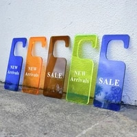 shelf south korea label point of sale tag acrylic new arrivals sales custom letters hanger plate