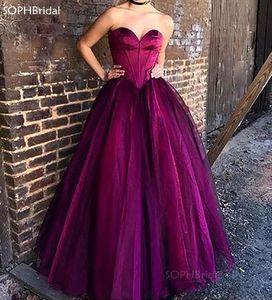New Arrival A-Line Evening Dress 2021 Robe de Soirée Tulle Prom Dress Long Purple Formal Party Dress Vestido Formatura Hot Sale