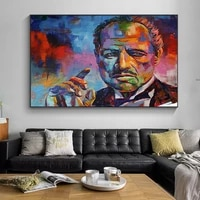 classic movie godfather portrait canvas art poster painting wall pictures posters and colorful prints for living room home decor