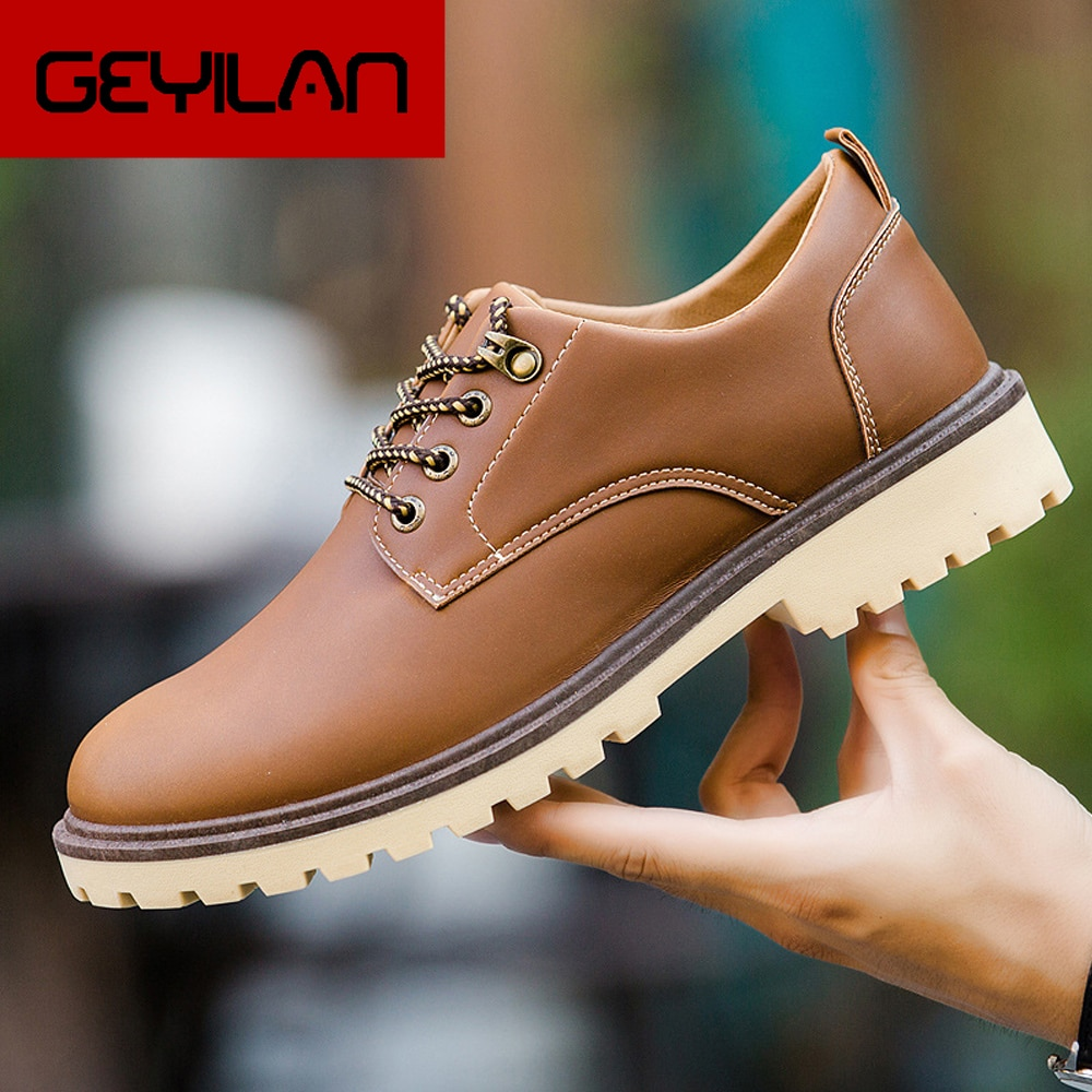 Brand Men Leather Casual Shoes Lace-up Comfort Oxfords Shoes For Male Top Quality casual shoes men 2